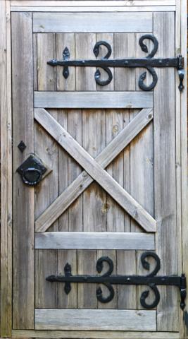 Cowboy wooden door mural wrap Make you flat boring door into an old castle door…