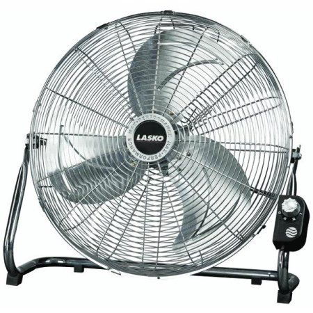 Lasko 20 inch High Velocity Floor Fan Silver Floor fans Fans and