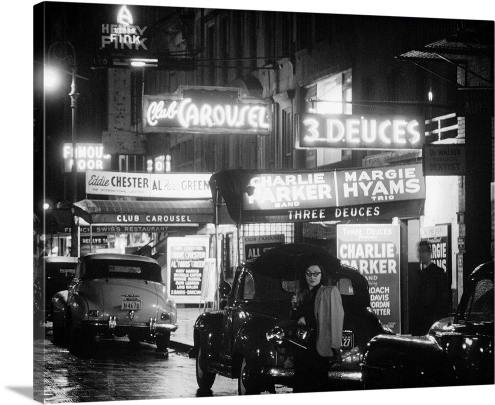 July 1948 Restored Archival Vintage Photo NEW YORK CITY Jazz Clubs on 52nd St