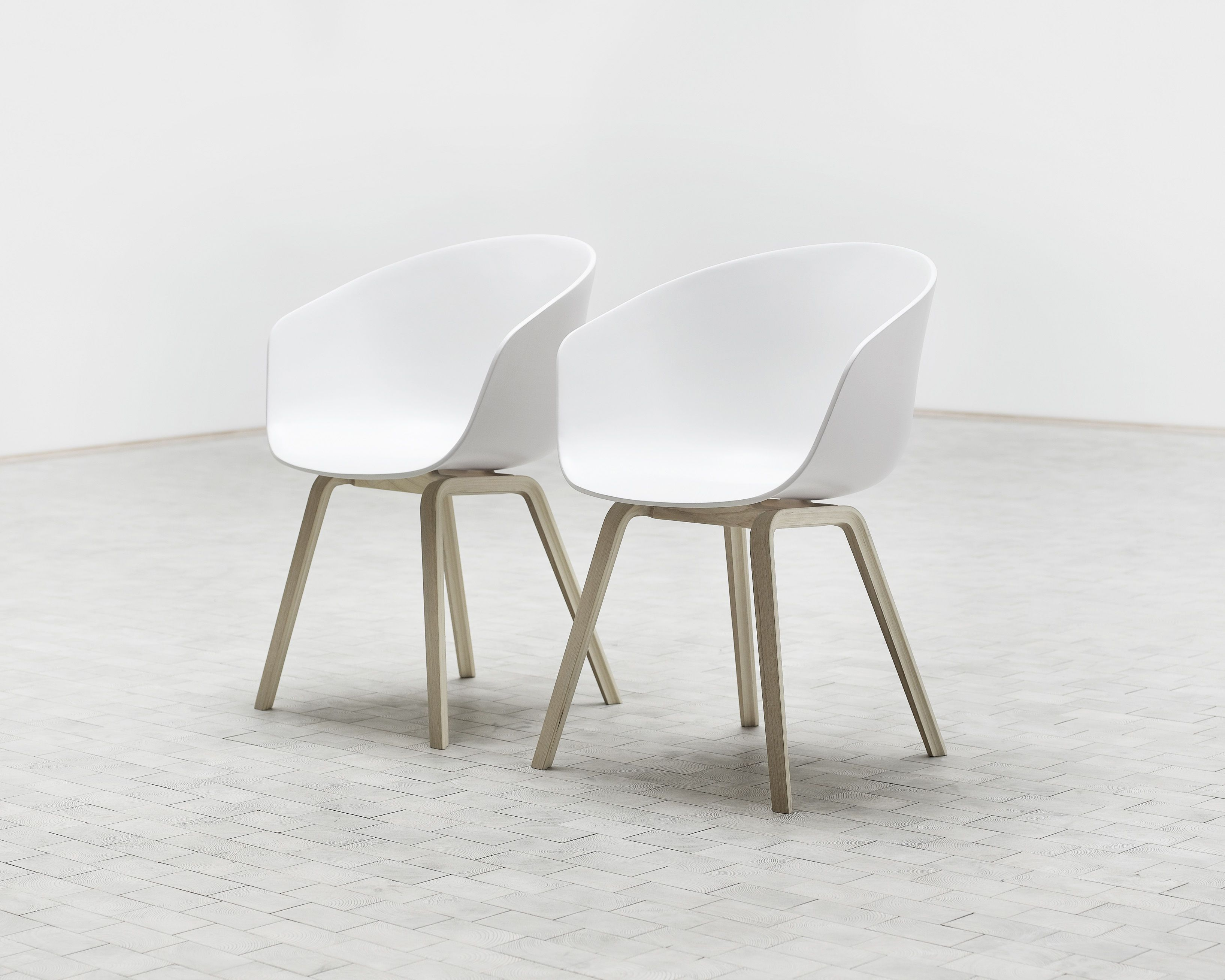 About A Chair Armchair Plastic Shell Wood Legs By Hay In 2019