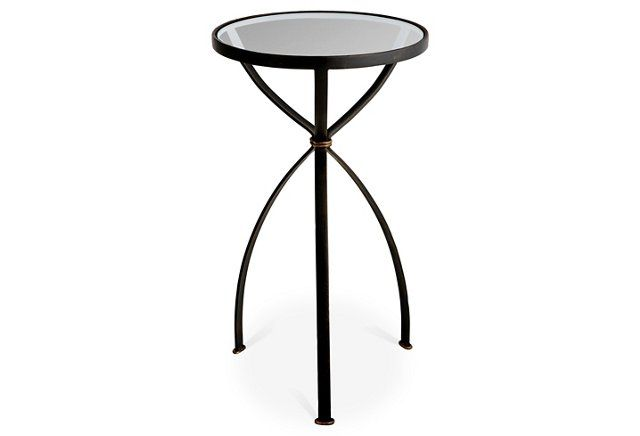 The Graceful Curved Legs Of This Side Table Feel A Bit Futuristic If You Look Closely And We Like It Side Table Round Side Table Bronze Side Table
