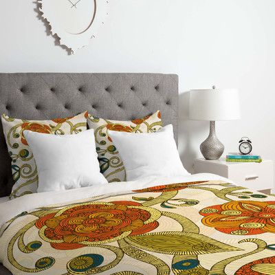 East Urban Home Valentina Ramos Flowers Duvet Cover Set Size: Twin/Twin XL