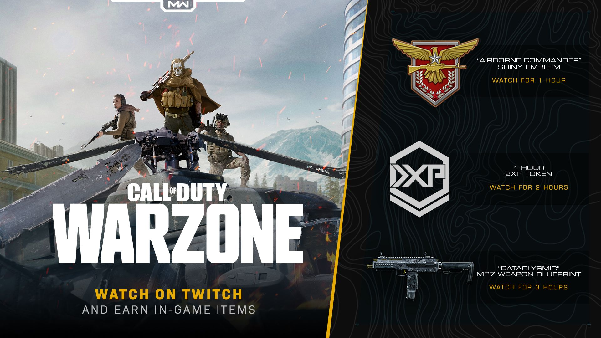 Earn Rewards To Equip In Modern Warfare Multiplayer Special Ops And Warzone By Watching Twitch In 2020 Special Ops Modern Warfare Twitch