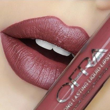 Beautiful lipstick lip makeup