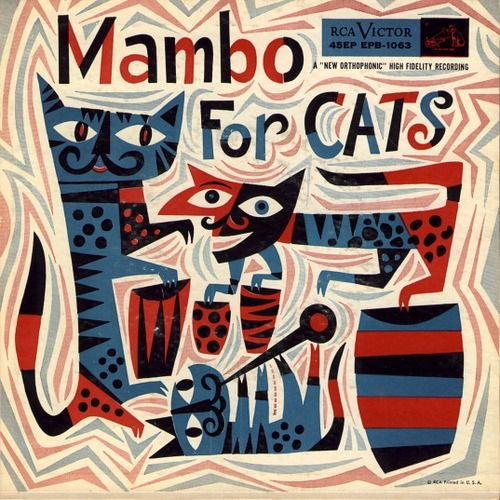 Mambo For Cats (Various Artists)1955 Jim Flora cover art