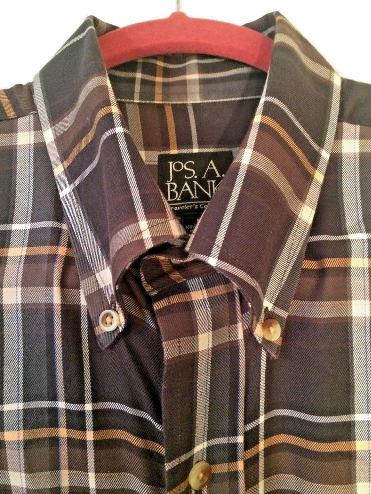 New Jos A Bank Traveler Collection Men Size Medium Black