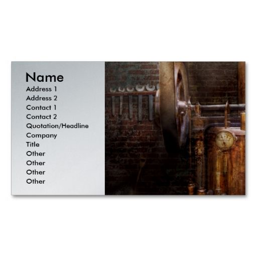 Steampunk powering the modern home business card click home steampunk powering the modern home business card colourmoves