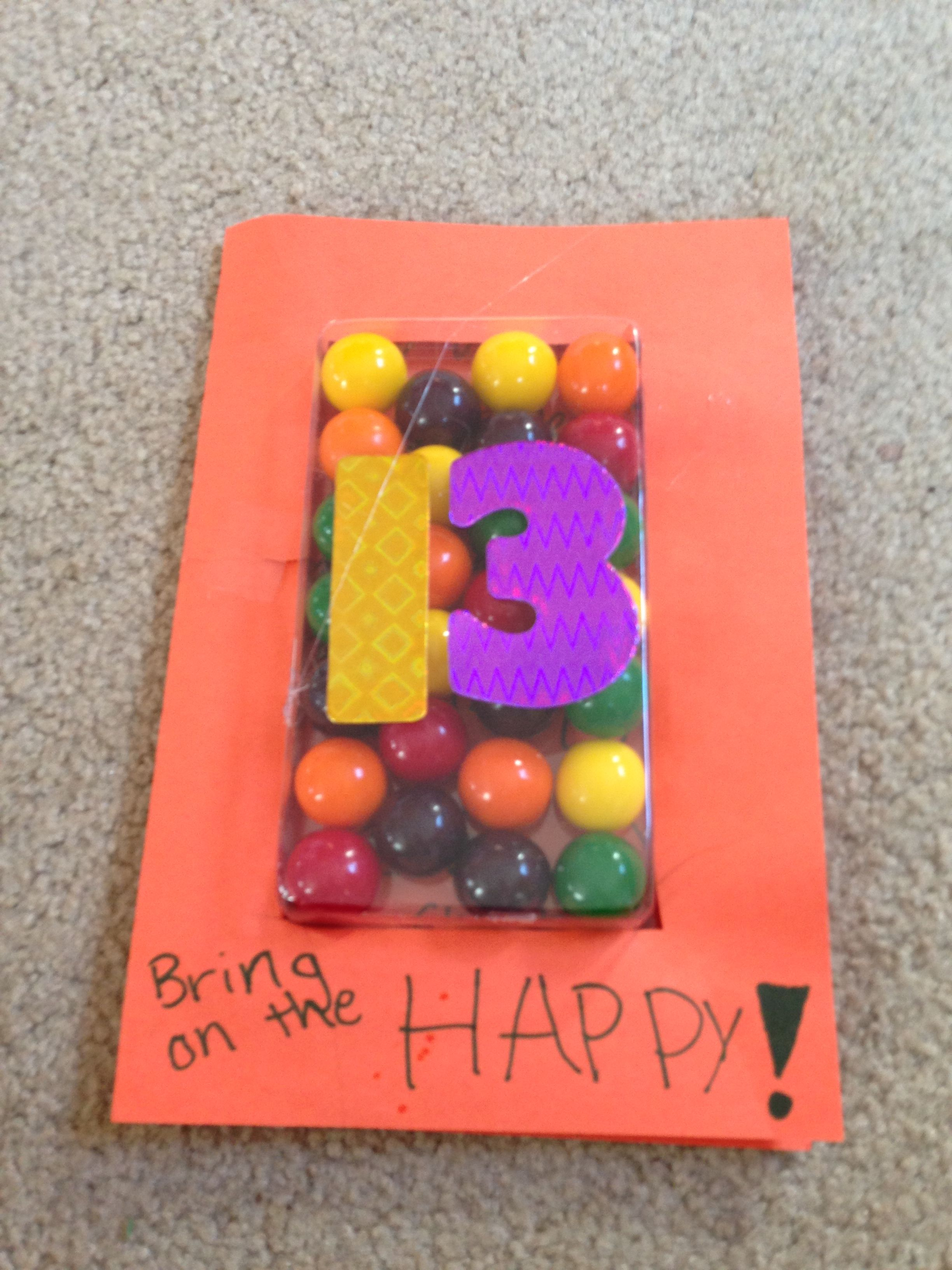 Birthday Card To My Now 13 Year Old Friend See Next Pin For Inside Of
