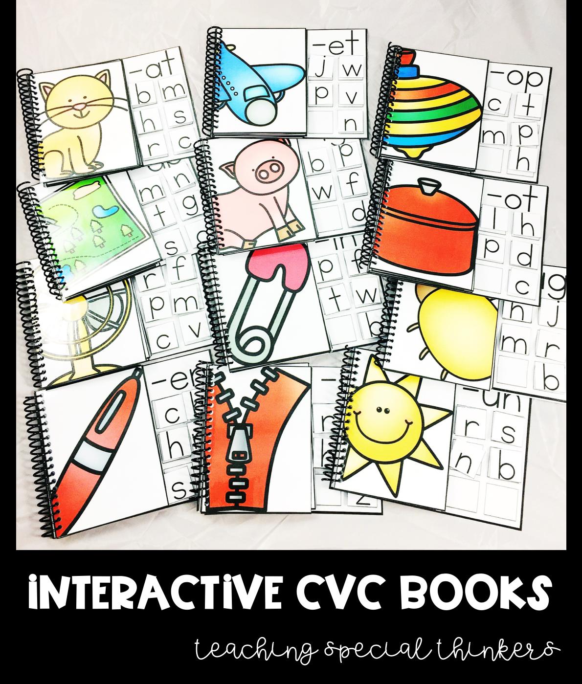 Interactive Cvc Word Family Books Reading
