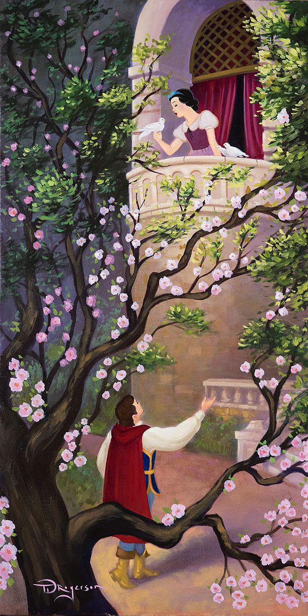 Tim Rogerson Snow White And The Seven Dwarfscelebrates The Historical Image While Branching Wallpaper Iphone Disney Princess Disney Fine Art Disney Background