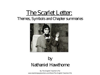 009 The Scarlet Letter Themes and Student Notes PowerPoint