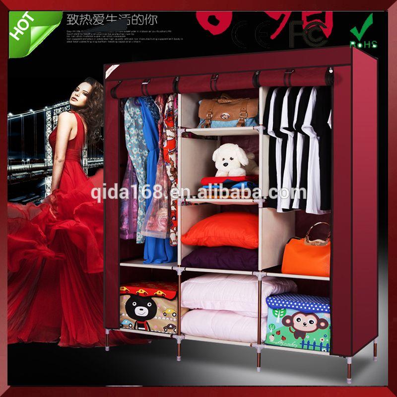 Simple Using Foldable Non Woven Wardrobes,cheap Canvas Wardrobe,closet  Organizer