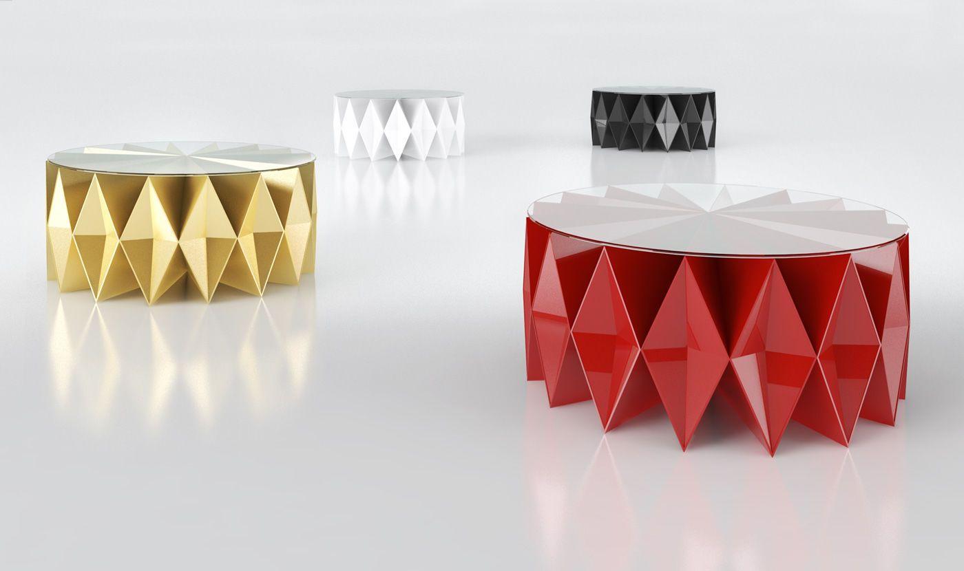 Tavolo basso design originale arlecchino colletto by for Mobili di design a basso costo