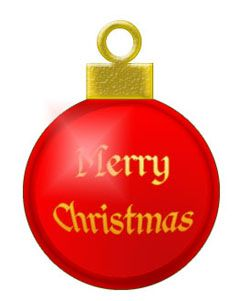 Red Christmas Tree Ornament--free clip art