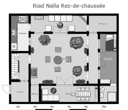 Moroccan riad floor plan google search house for Moroccan house plans