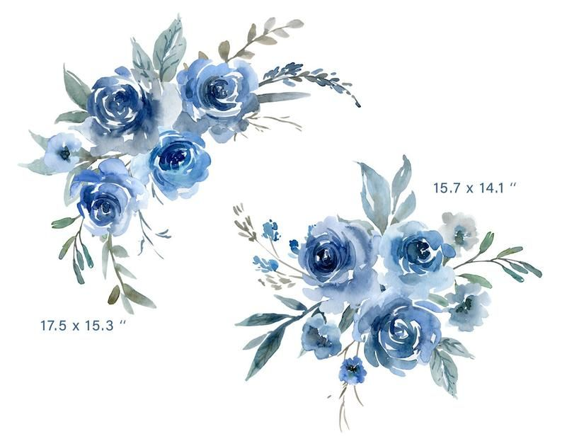 Blue Flower Png Picture Png And Clipart Flower Clipart Blue Flower Png Watercolor Flowers