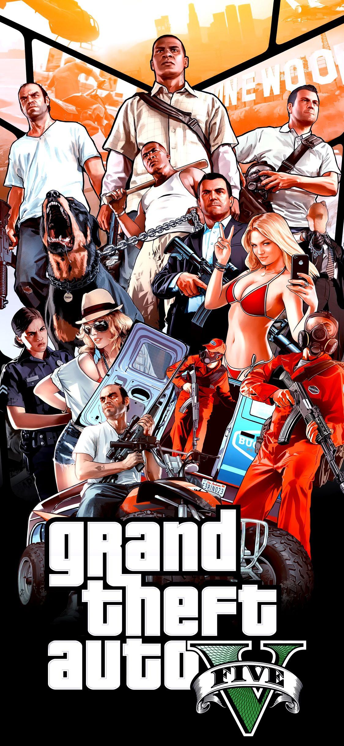 Gta V Wallpaper 4k Iphone Trick Desenho De Gta Personagens De Videogame Papeis De Parede De Jogos