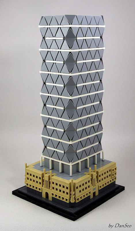 Ny Hearst Tower Avd Lego Architecture Micro Lego Cool Lego Creations
