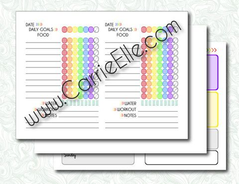 Printable Tracking Pages and Weekly Meal Planning Template for the ...