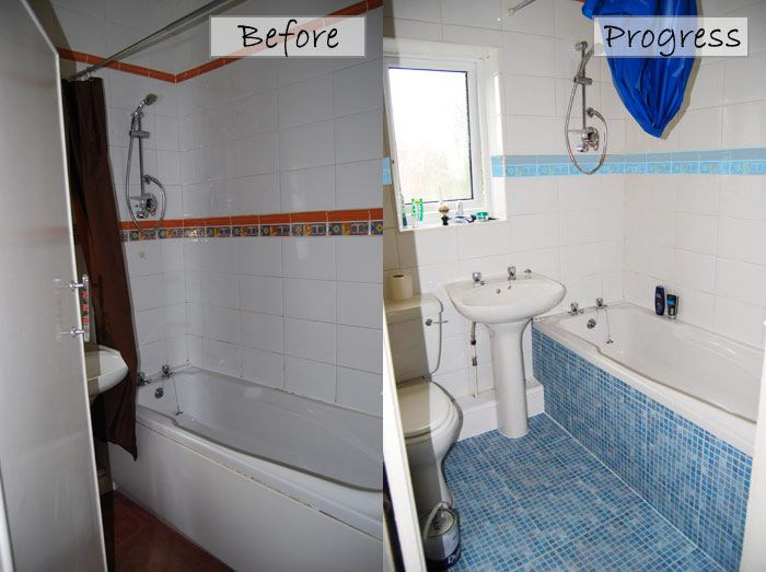 before and after cheap bathroom makeover for under 30