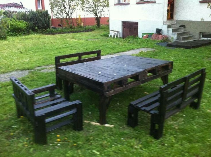 Garden Furniture Out Of Pallets picnic table from pallets - google search | outdoors | pinterest