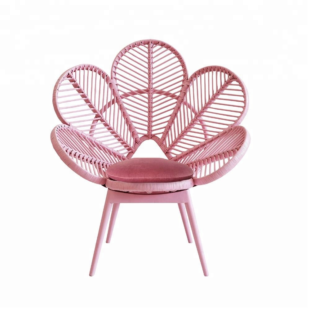 Outdoor Event Furniture Peacock Flower Rattan Chair With ...