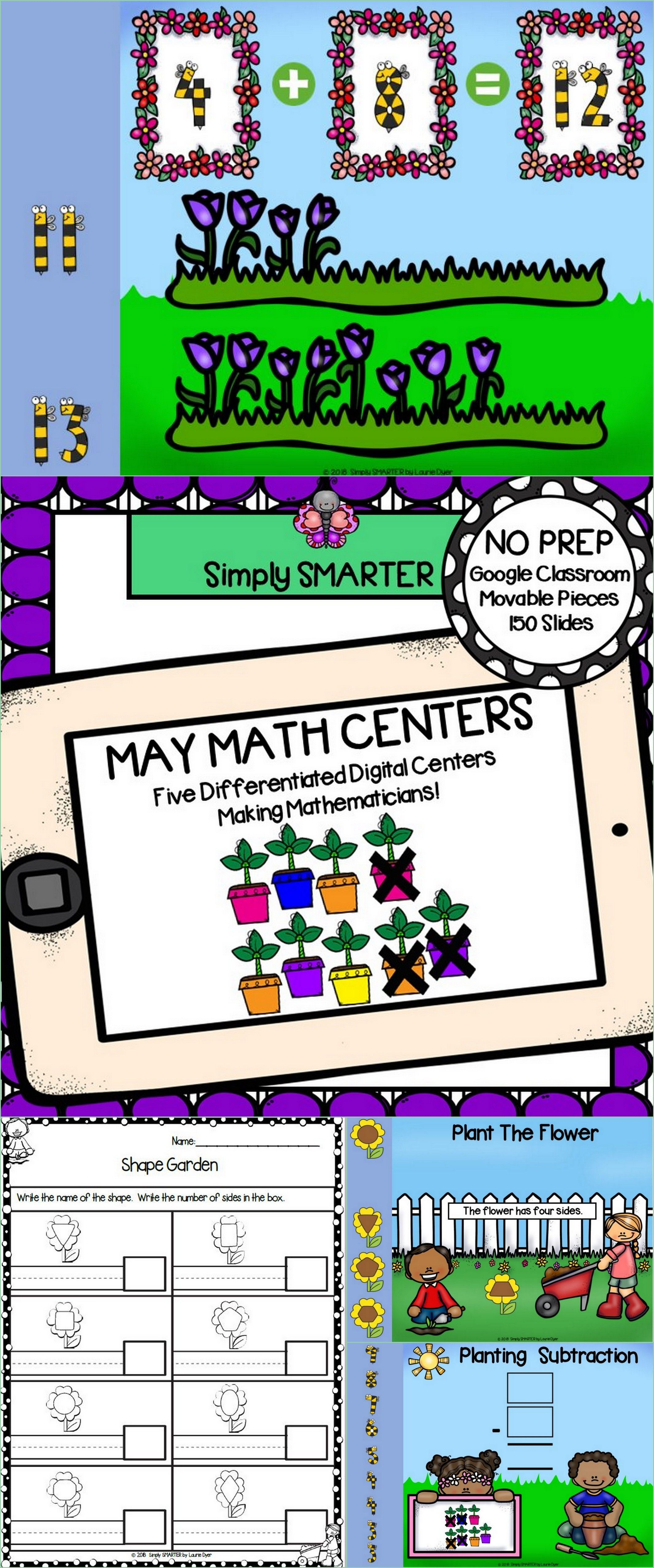 May Math Centers For GOOGLE CLASSROOM