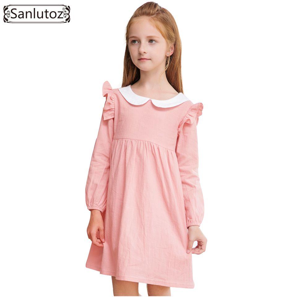 Sanlutoz Girls Dress Winter Kids Dress for Party Wedding Long Sleeve ...
