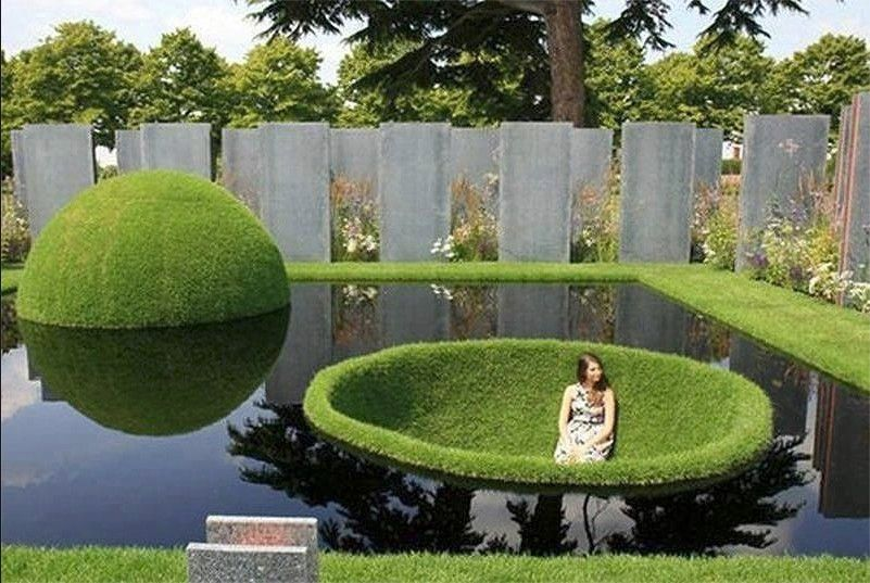 certainly creative for a pool design... more artsy than functional