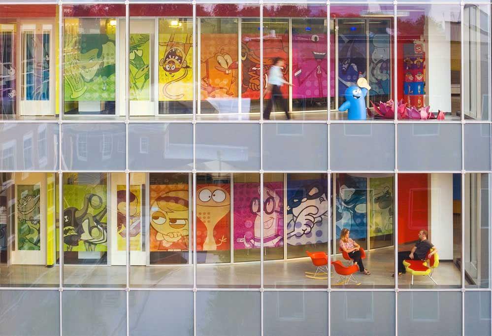 office wallpaper designs. Office Lounge Design Ideas With Cartoon Wallpaper Designs