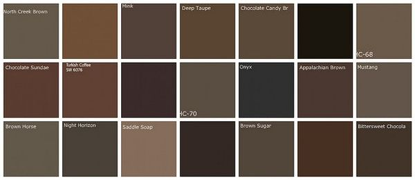 Dark Brown Paint Color Swatches From Benjamin Moore We Ended Up