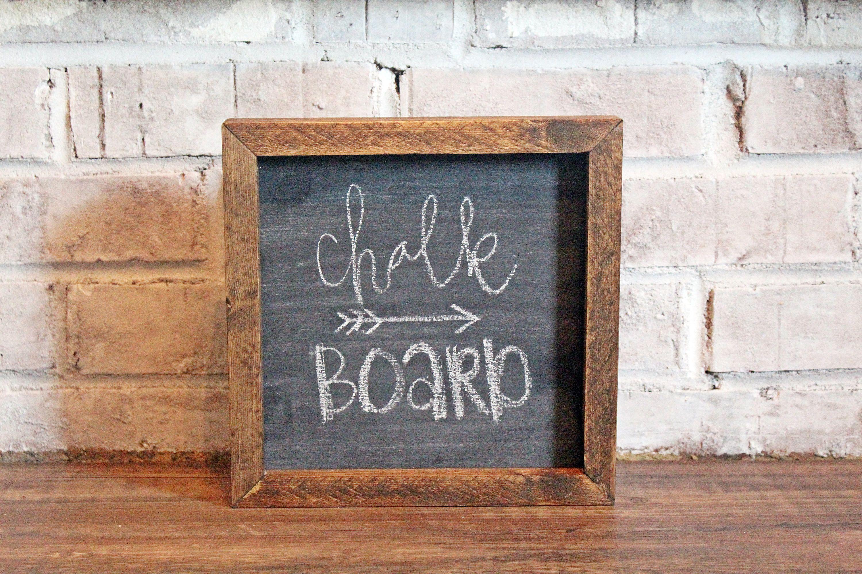 wood frame chalkboard chalk wooden frame farmhouse rustic mantle decor - Wood Framed Chalkboard