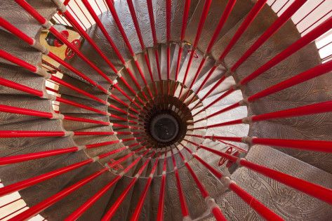 Looking Down the Spiral Staircase in the Tower of Ljubljana Castle Photographic Print by Jonathan Irish at AllPosters.com
