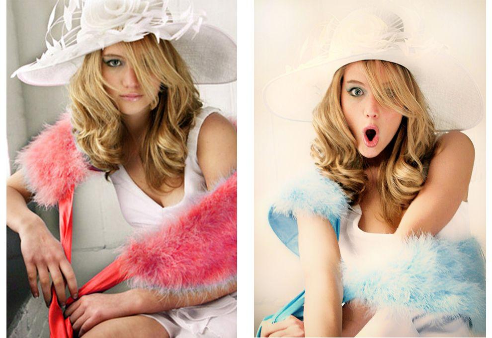 Jennifer Lawrences Teen Modeling Photos