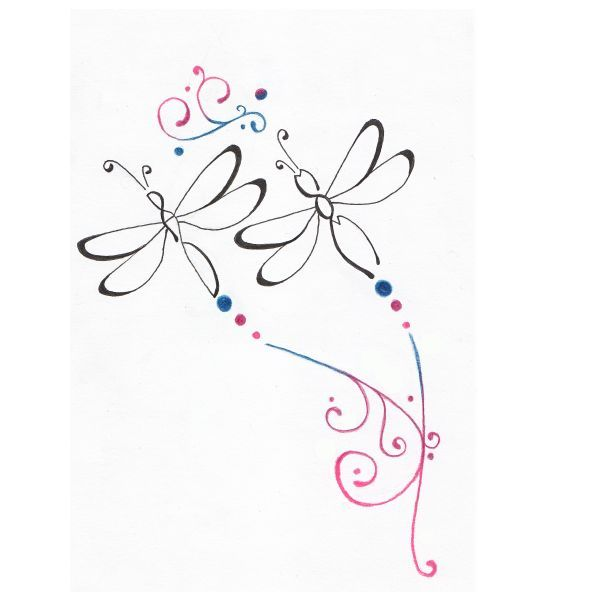 Outline Dragonfly Tattoo Design Back Tattoo Dragonfly Tattoo