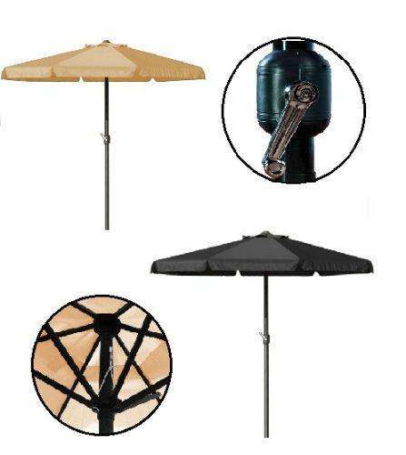 Patio Umbrella Large Garden Parasol 3,5m Terrace Sun Protection Outdoor  Cover