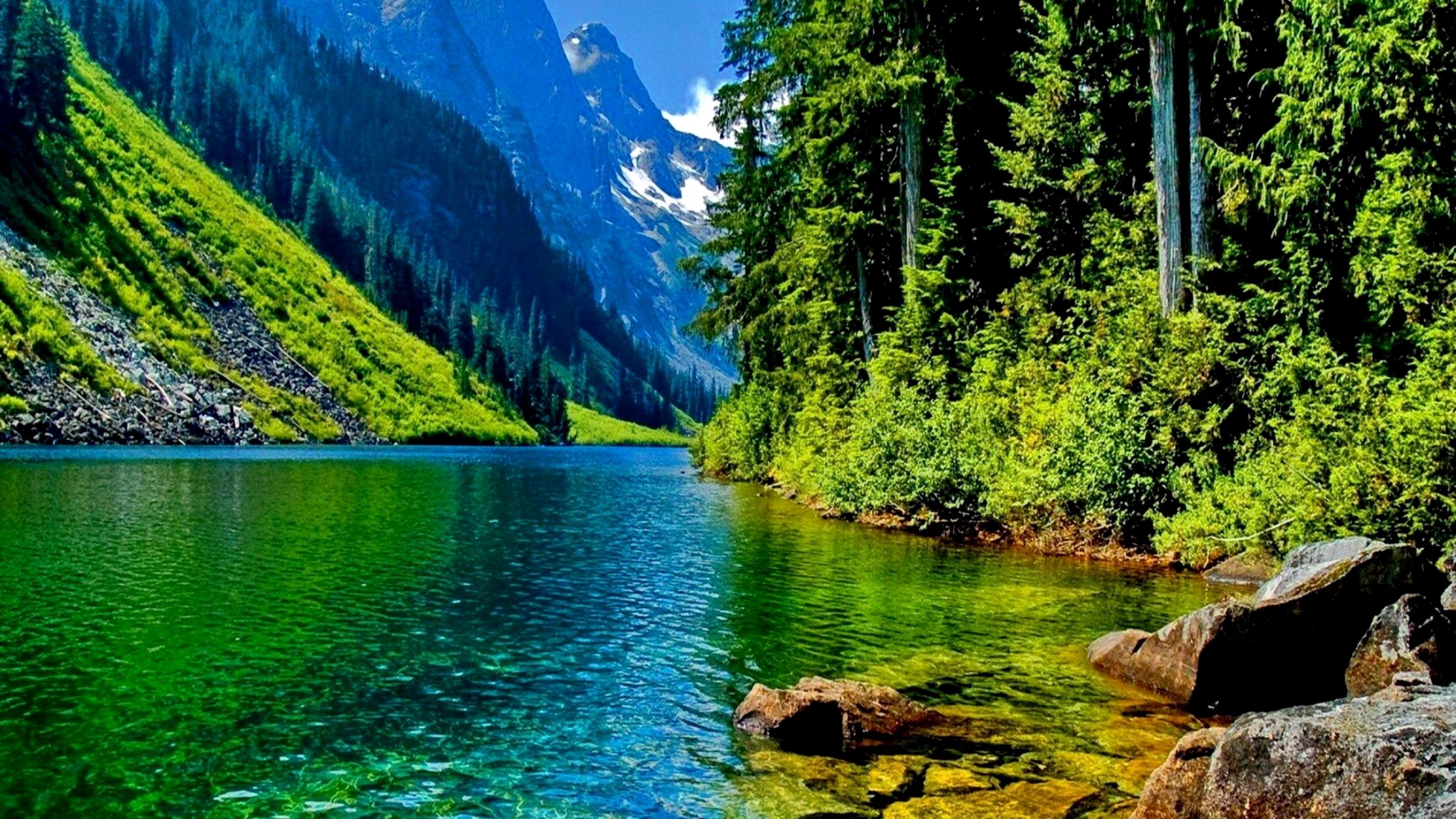 Wallpaper 4k Nature Download Trick Pemandangan Lanskap Danau