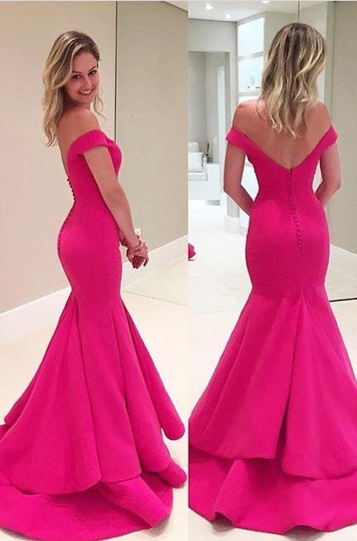 Elegant Off The Shoulder Prom Dresses, Mermaid Prom | vestidos ...