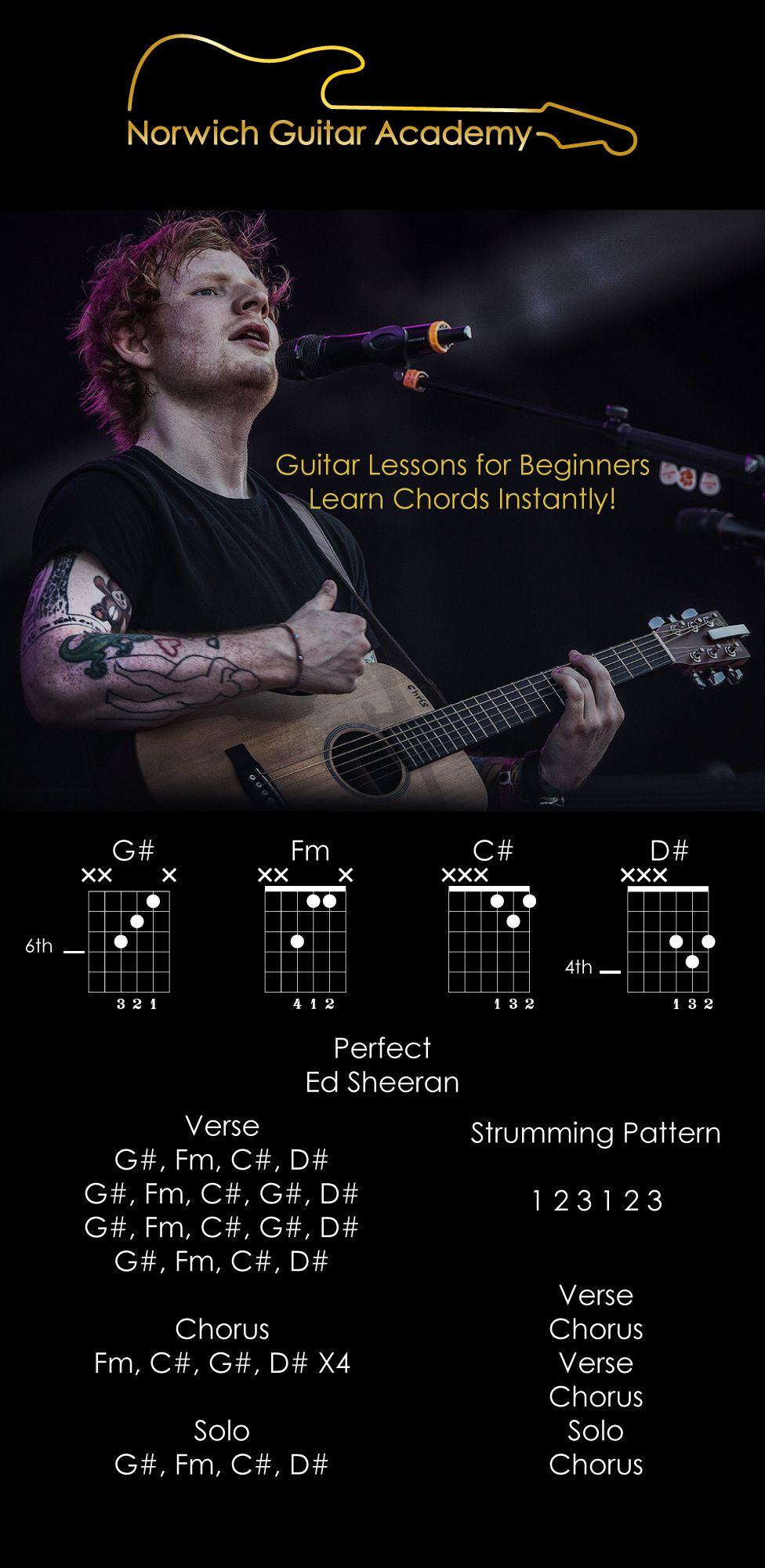 Perfect Ed Sheeran Chords Beginner Guitar Lesson Lyrics In 2018