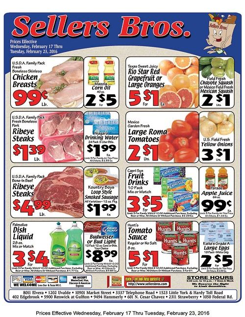 Seller S Bros Weekly Ad Grocery Coupons Grocery Coupons Weekly Ads Ads