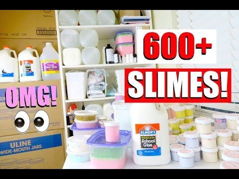 Huge Slime Collection Announcing My New Slimes Youtube