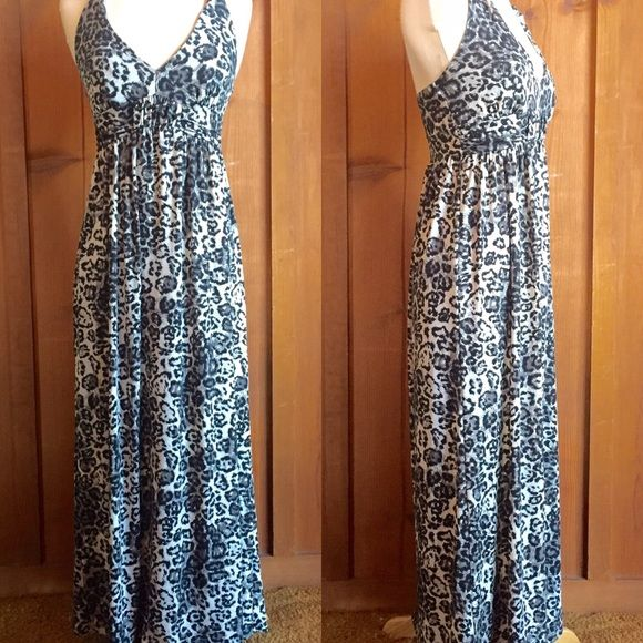 9e818d065758 Sexy Black Leopard Print Maxi Dress MCM Love this dress! Sexy black gray  leopard