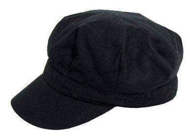 Barbour Ladies Wax Baker Boy Hat - Black