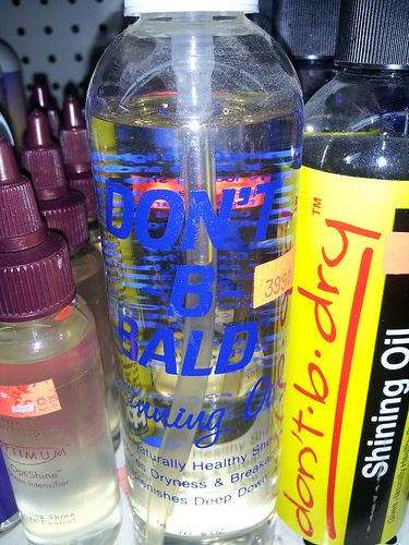 Is this the cure for baldness? I think not.... Not that I care if people are bald or not, Dwayne Johnson is bald and hot and I am sure there are others. Some suggest if you start going bald, you should go bald all the way, it works for some IDK...