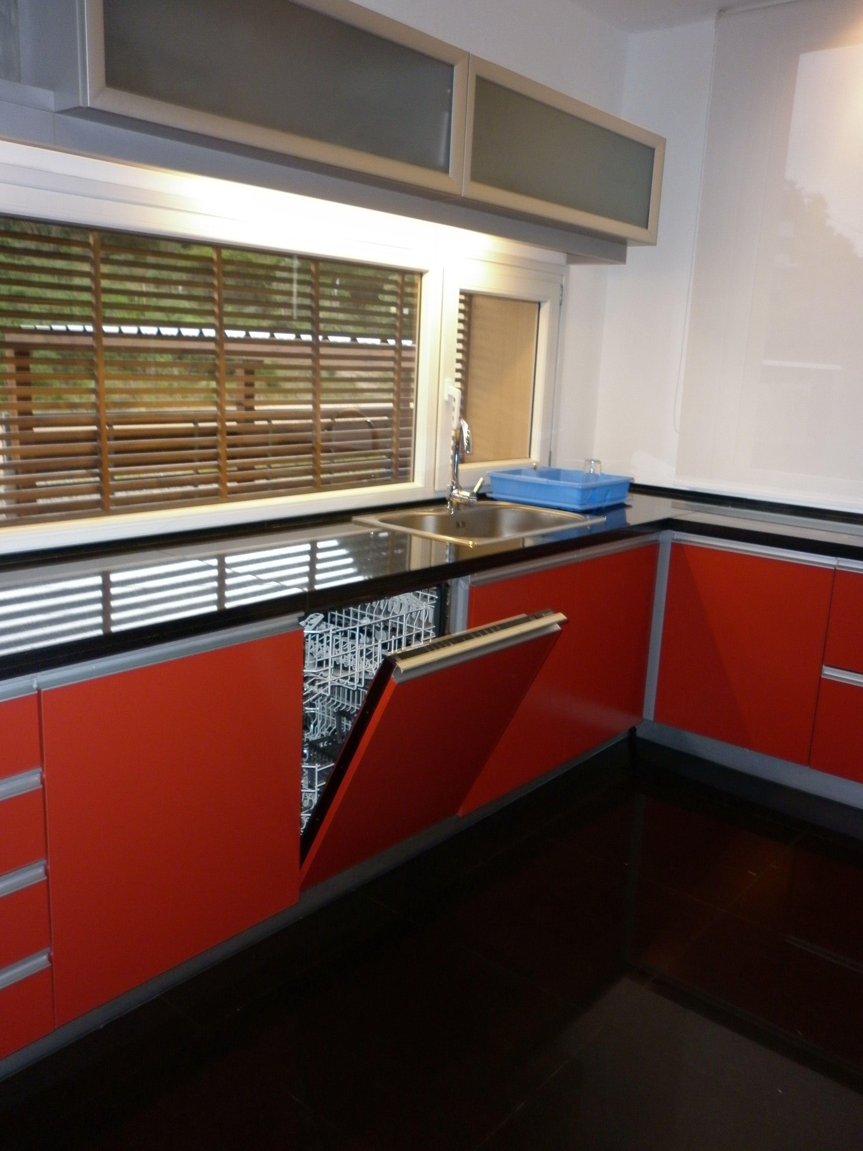 Grupo3 Cocina M Blanco Aluminio Y Vidrio Barra En Bamb  # Muebles De Cocina Faplac