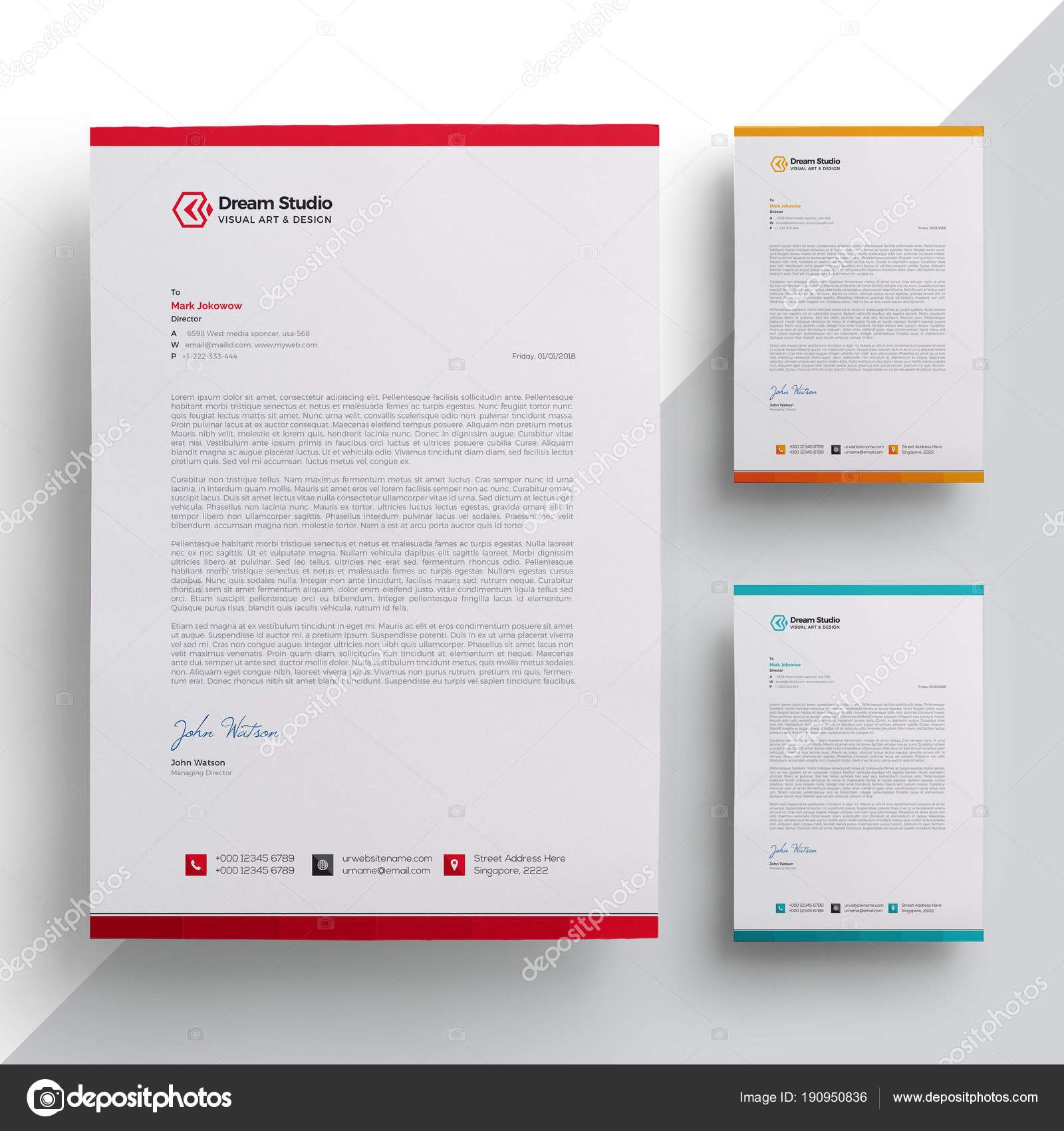 download modern company letterhead template — stock low experience resume examples warehouse supervisor doc entry level objective