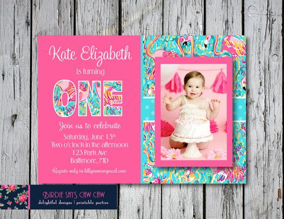Lilly Pulitzer Invitation Peel And Eat Inspired Photo First