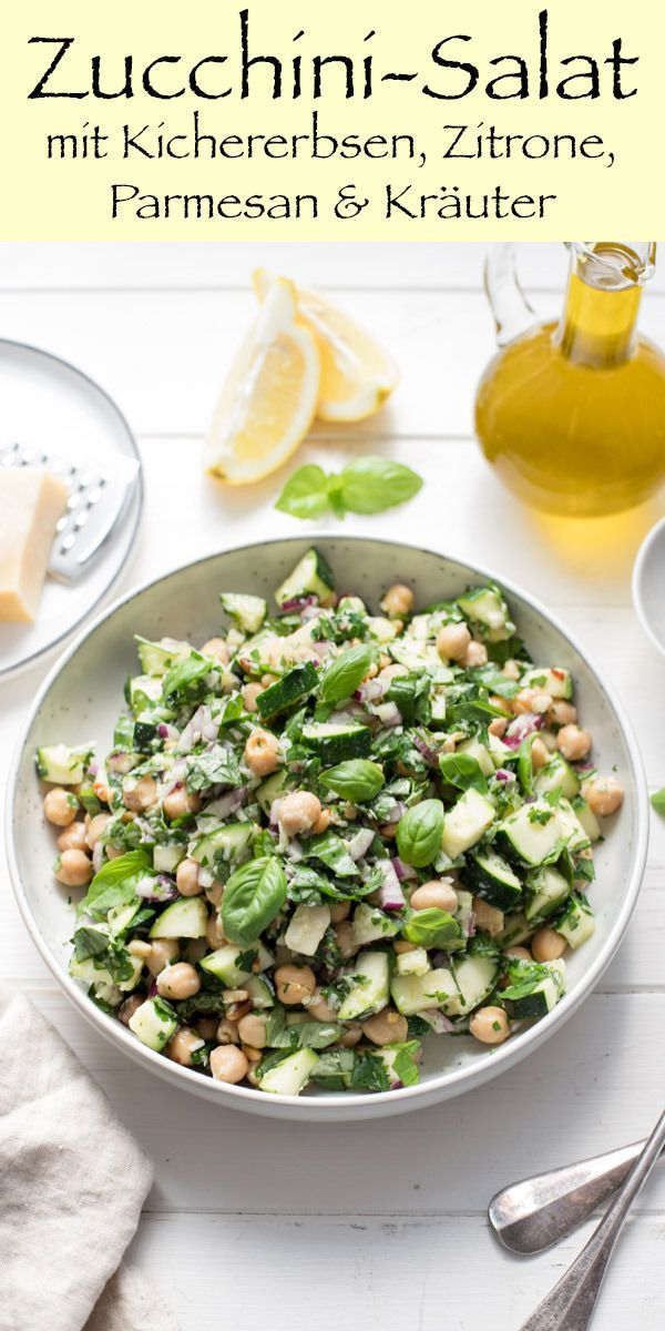 Photo of Zucchini Salad with Chickpeas, Lemon and Parmesan | Elle Republic