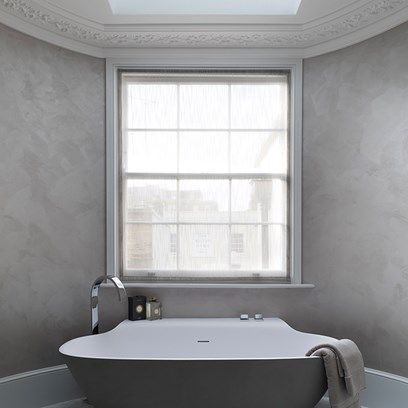 sleek and chic | townhouse interior, small bathroom design