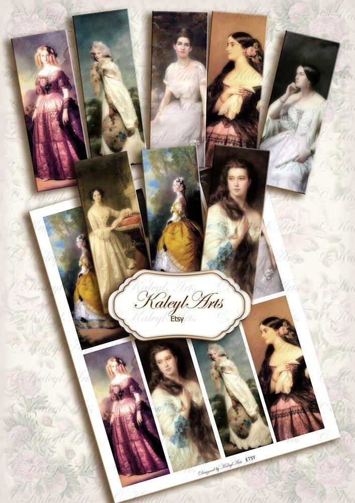 Bookmarks, paintings, ladies, fashion, victorian, vintage, jane ...